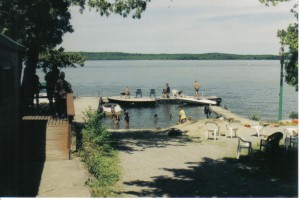 Beach and Floating Dock from Cottage One